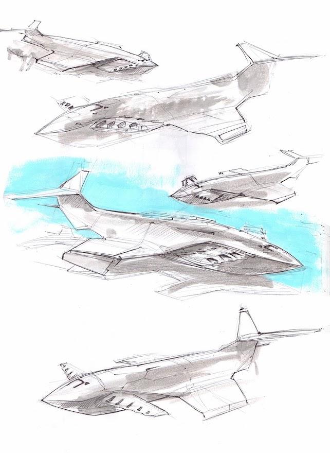 Sea Monster, renewed ekranoplan sketches