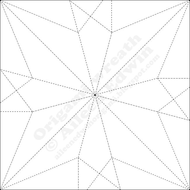 Modular Origami Wreath Module CP (Aileen Edwin)