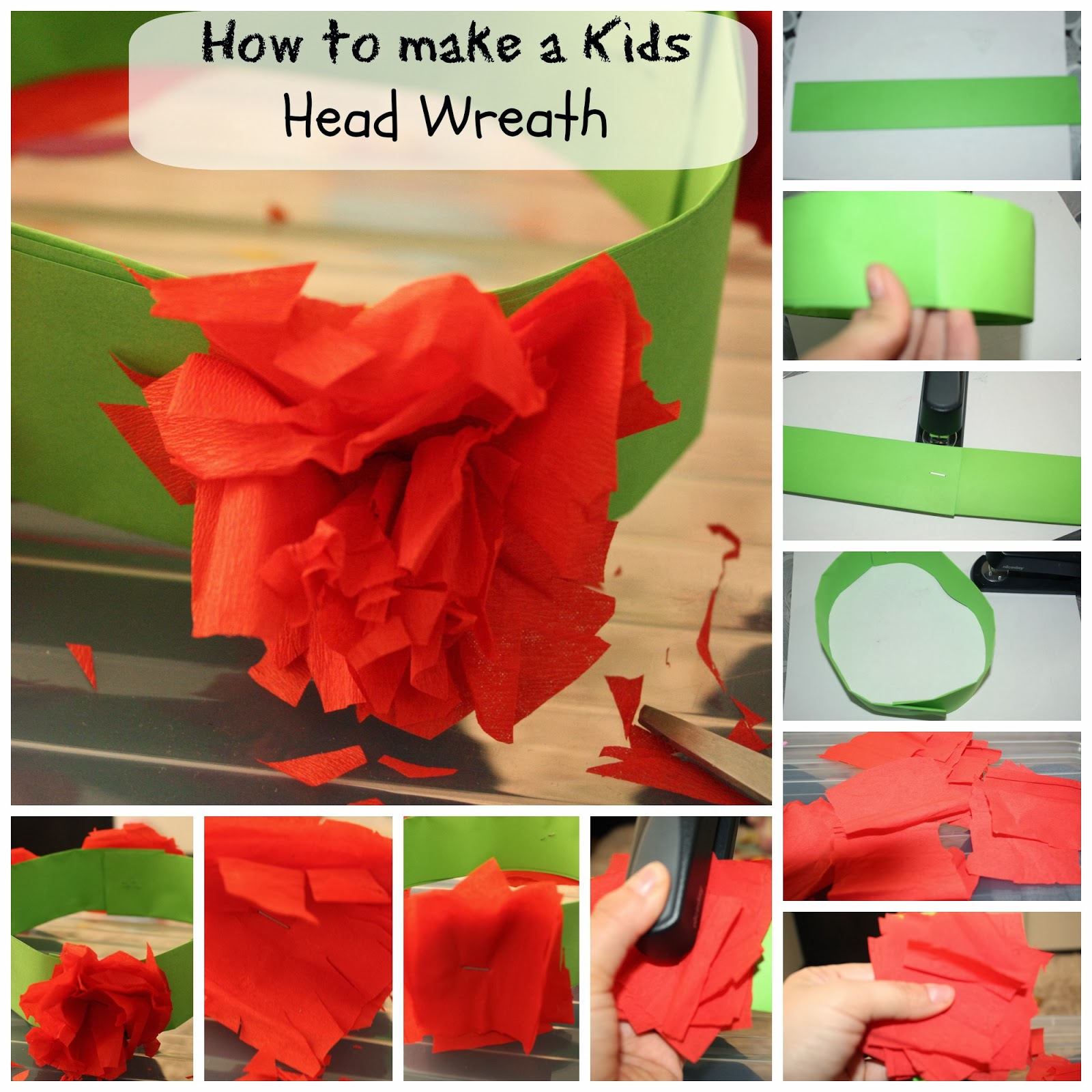 Kids craft: Make your own head wreath