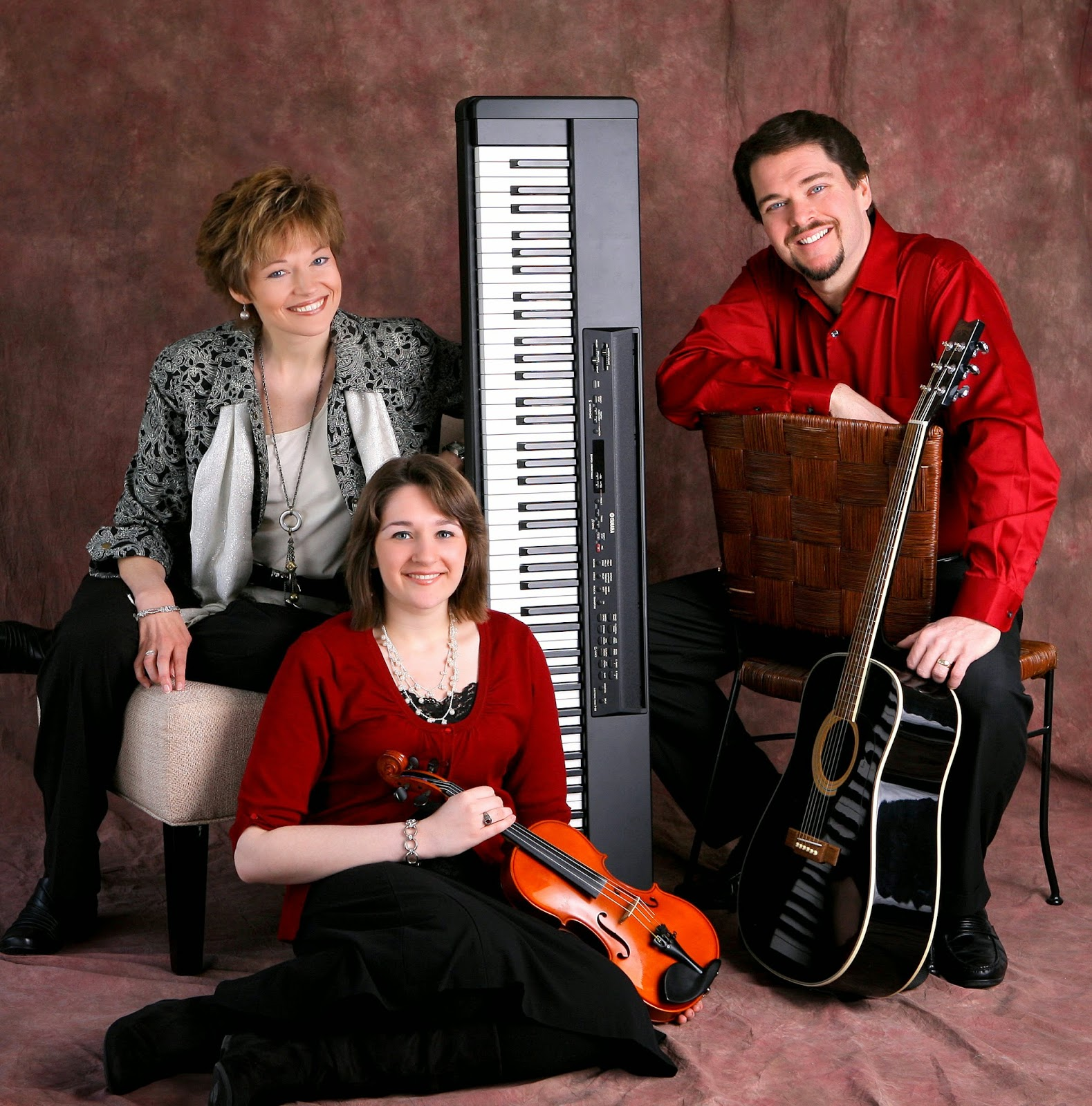Musical artists Phil and Pam Morgan family