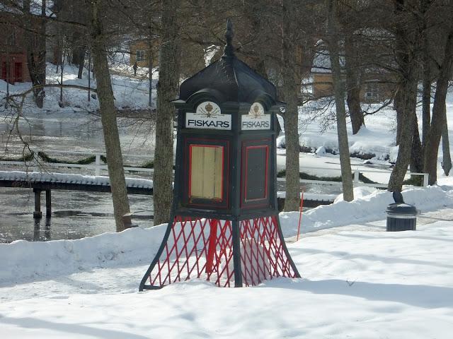 первая телефонная будка в Финляндии появилась в Фискарсе