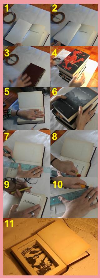 Pasos para hacer la caja con el libro