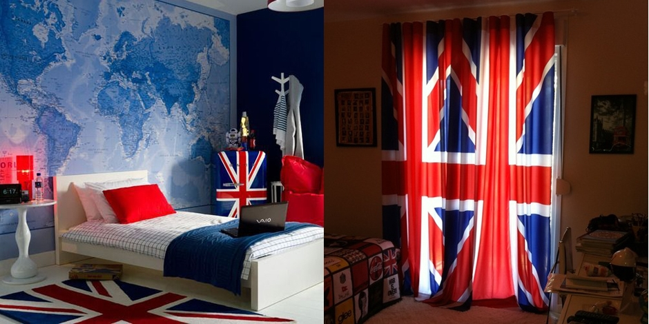 If I Was Myself Decoração de quartos com tema de Londres ~ Quarto Masculino Londres