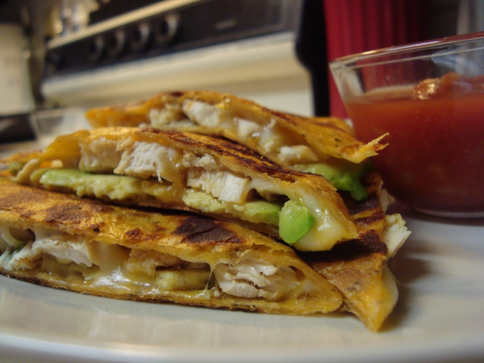 EAt iT uP: Chicken and Avocado Stuffed Quesadillas