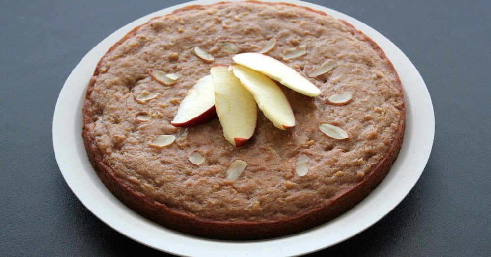 Apple Cake Eggless Without Oven