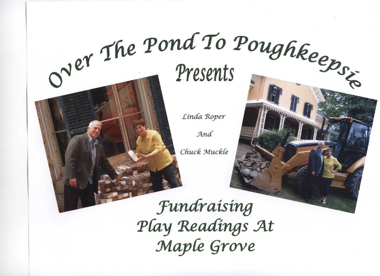 Ask me about Play Reading fundraisers for historic houses!