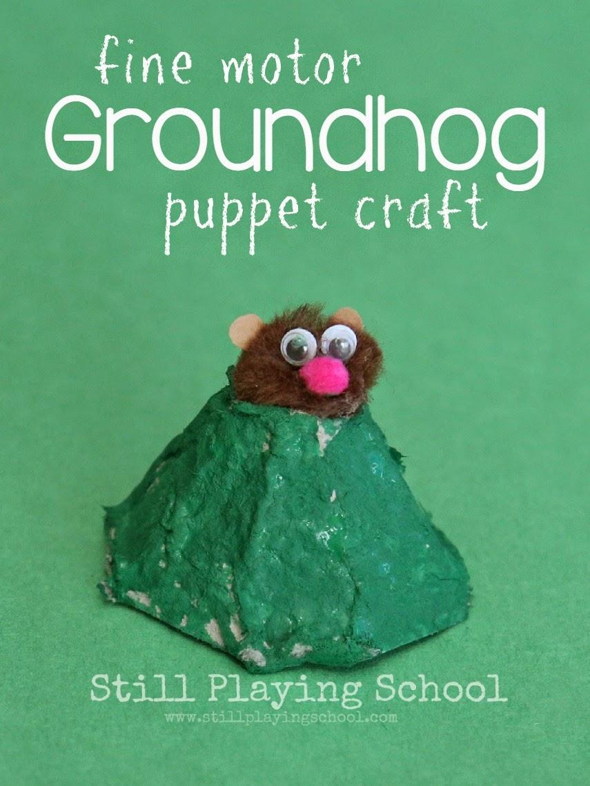 groundhog finger puppet craft still playing