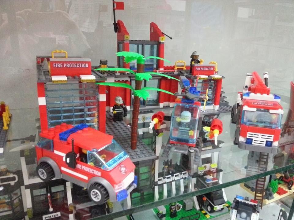 Q amazing collection lego compatible fire rescue set