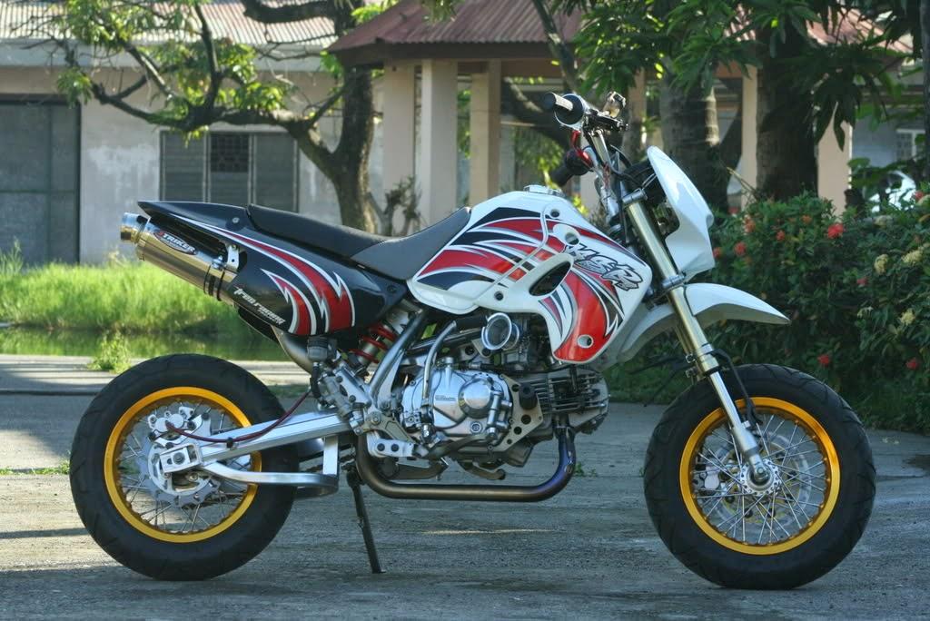 Modifikasi Kawasaki KSR 110 Putih