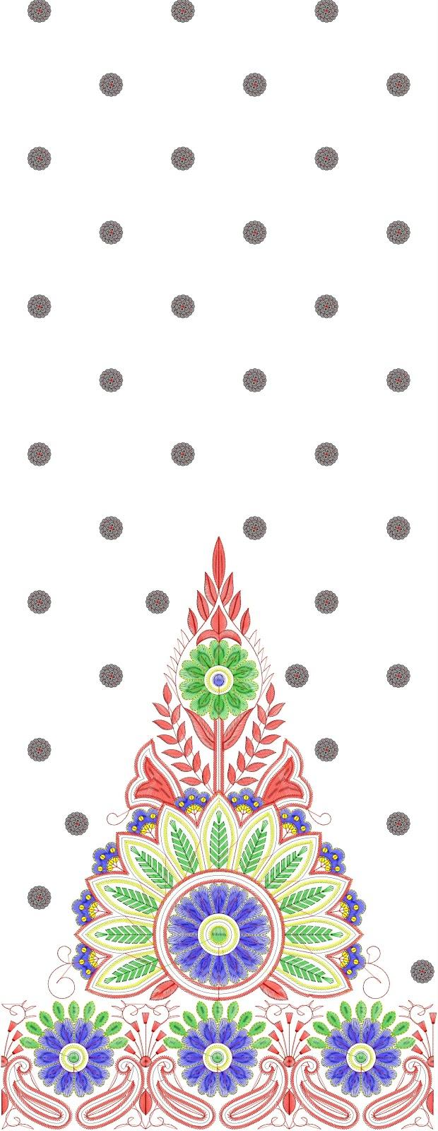 Excellent zari embroidery designs makaroka