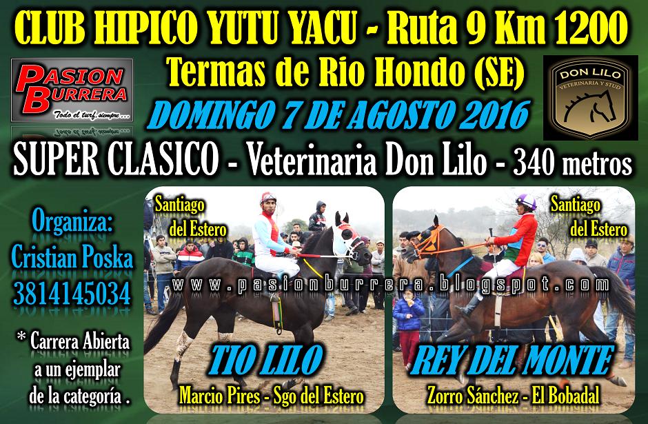 YUTU YACU - 7 DE AGOSTO - CLASICO