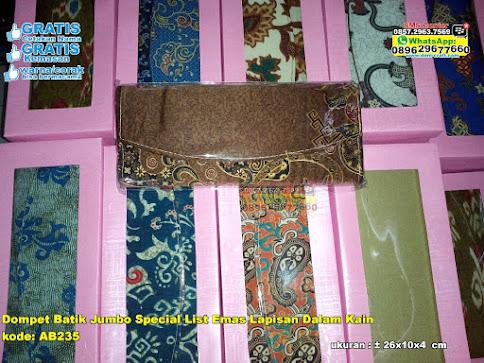 Dompet Batik Jumbo Special List Emas Lapisan Dalam grosir