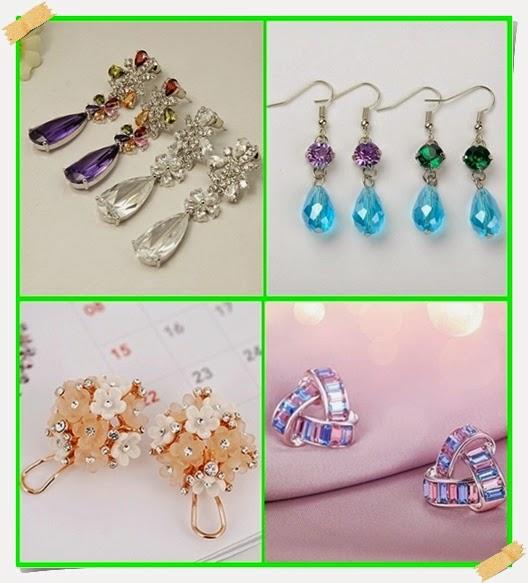 Speziell designte Ohrringe mit Steine