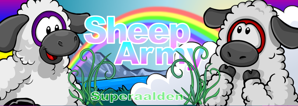 The Sheep Army of Clubpenguin