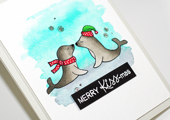 Deck the Halls with Inky Paws - Day 3 - Stephanie Klauck | Holiday Smooches Stamp set by Newton's Nook Designs #newtonsnook