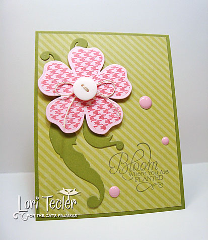 Bloom Where You Are Planted card-designed by Lori Tecler/Inking Aloud-stamps and dies from The Cat's Pajamas