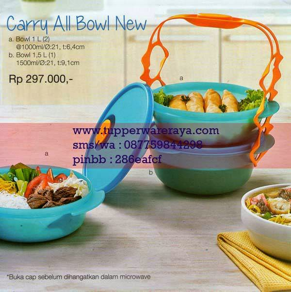 Katalog Tupperware Promo Januari 2015 Carry All Bowl New