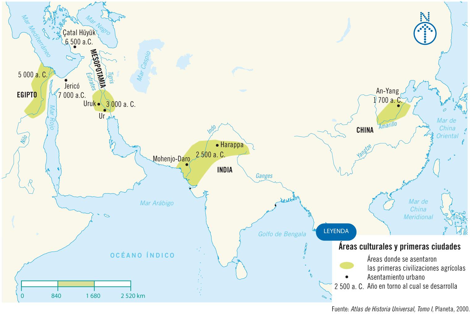 Historia AntiguaLuiselli  Mapa de las Civilizaciones Agrcolas