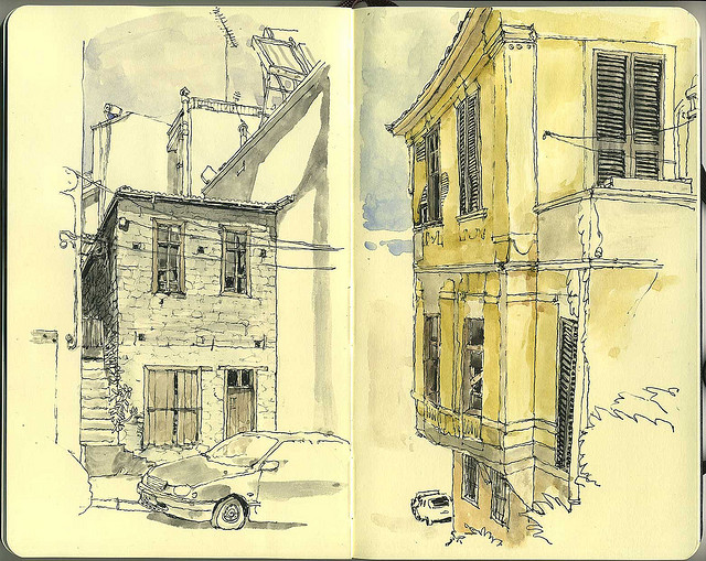 22-Paying-With-Sweat-Mattias-Adolfsson-Surreal-Architectural-Moleskine-Drawings-www-designstack-co