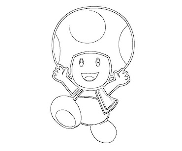 #1 Toad Coloring Page