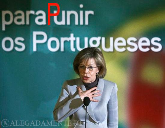 Imagem de Maria de Belém – Adicionamos um P e o slogan: ficou para Punir os Portugueses