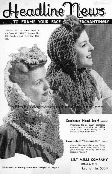 The Vintage Pattern Files 1940s Crochet Purse Hat Patterns
