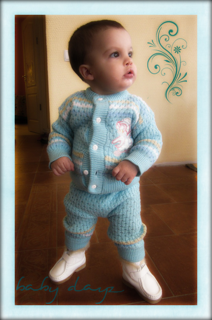 Micah James Sloan  13 months  wearing his Ukrainian clothes and shoesUkrainian Everyday Clothing
