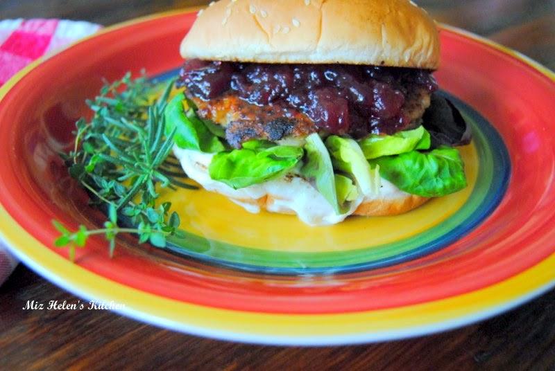 Rosemary Lemon Chicken Burger at Miz Helen's Country Cottage