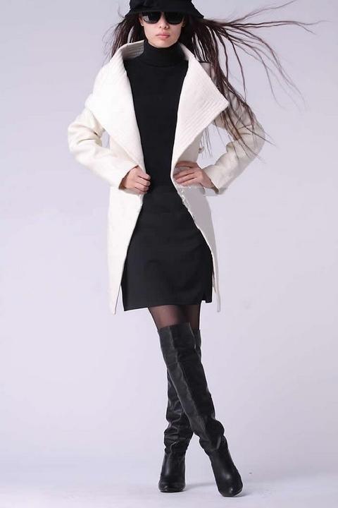 2013 Hakim Yaka Bayan Kaşe Kaban Modelleri