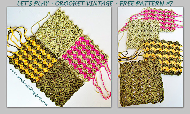 free crochet patterns, zig zag, how to crochet, vintage crochet,