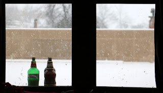 Those bottles of beer are frozen solid