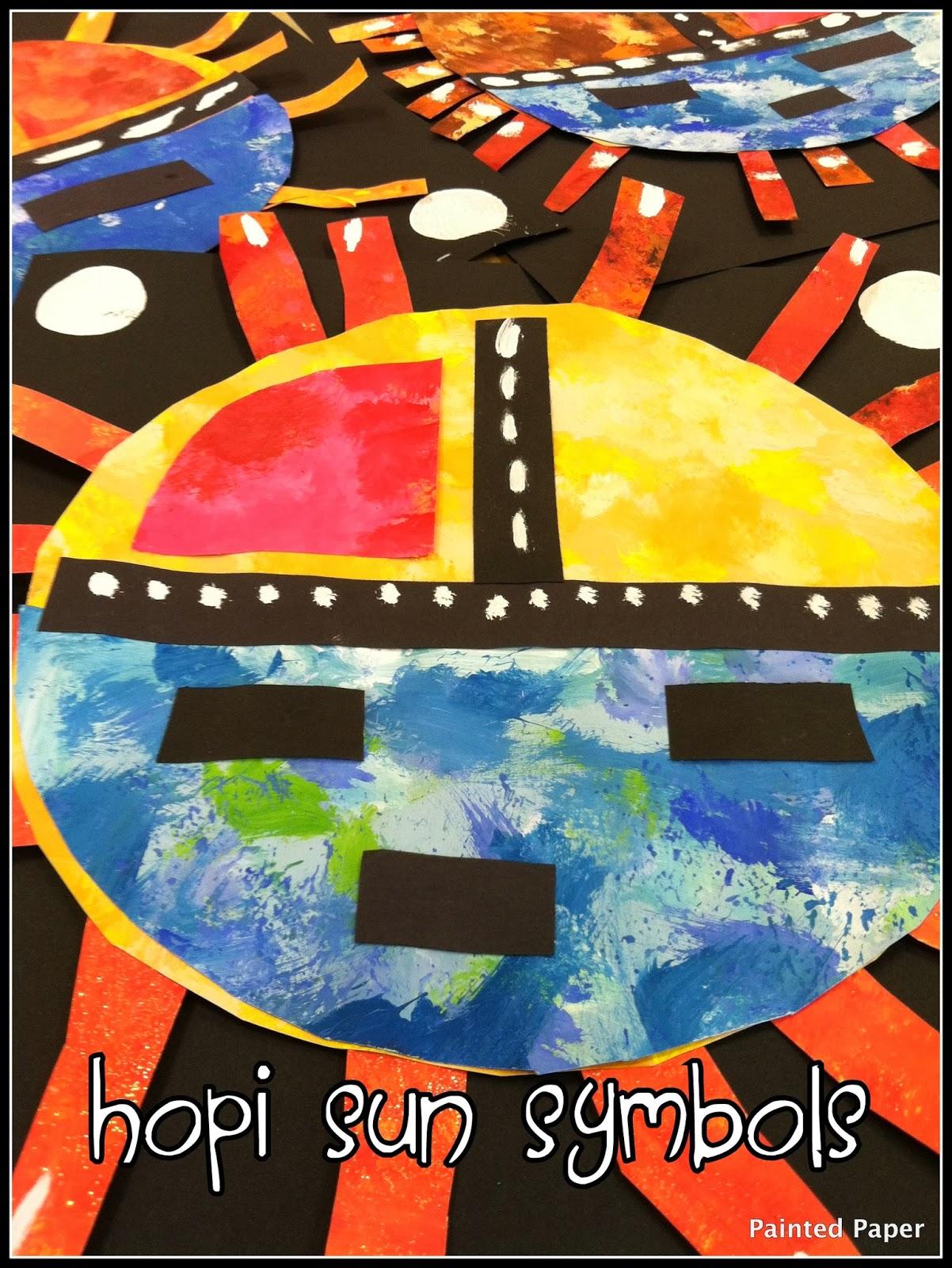 PAINTED PAPER: More Georgia O'Keefe Art..... Hopi Sun Symbol