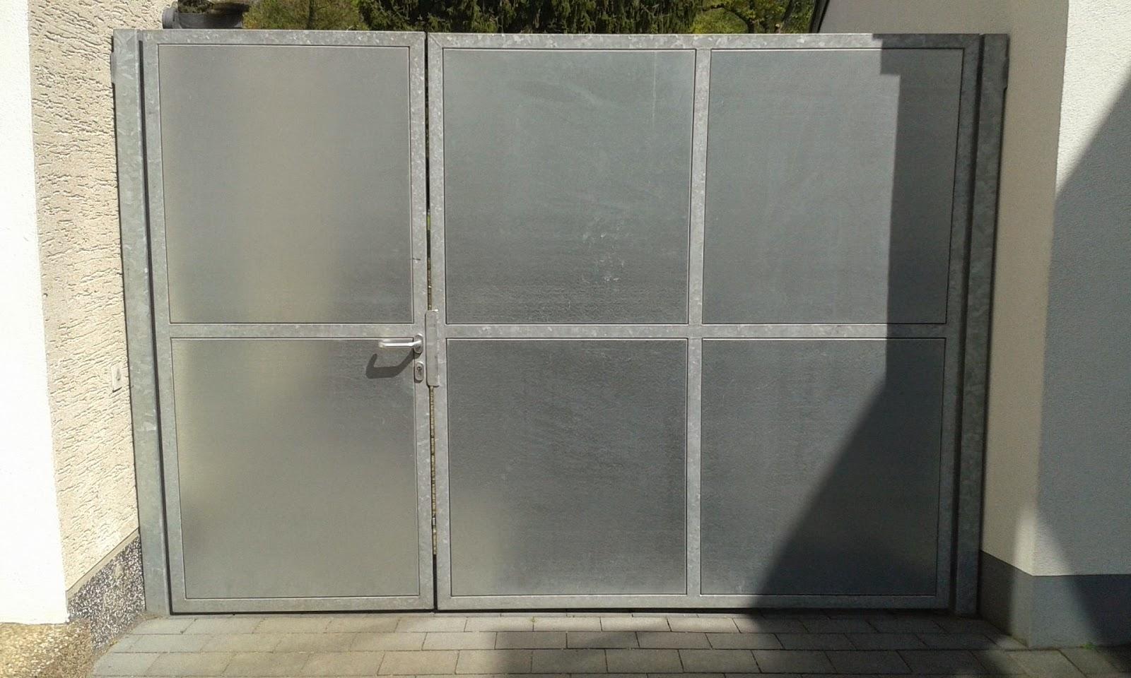 Stahlblech - Tor 2 flüglig | FRÖBEL METALLBAU