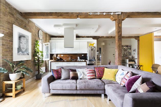 un viejo almacen londinense reconvertido en loft