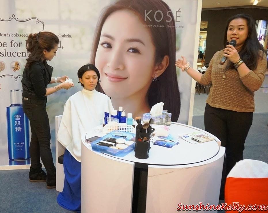 Kose, Kose Sekkisei, Kose Sekkisei Beauty Sharing with Mr Dobashi, Kose Japan, Sekkisei Lotion Mask, Beauty sharing, makeup, skincare, on stage, remove makeup