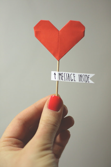 valentine's day, diy, card, heart origami