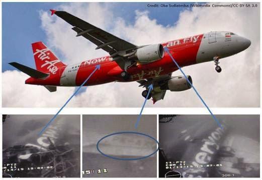 Gambar Badan Pesawat AirAsia Indonesia QZ8501