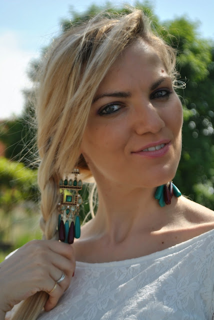mariafelicia magno fashion blogger colorblock by felym fashion blogger italiane fashion blog italiani blog di moda italiani blogger italiane di moda milano occhi azzurri capelli biondi acconciatura treccia laterale fashion bloggers italy blonde hair blue eyes majique earrings