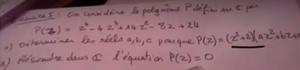Factoriser un polynôme et résoudre une équation dans C