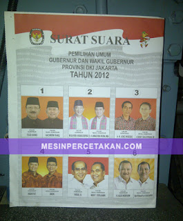 Contoh Kertas Suara Pilkada DKI 2012