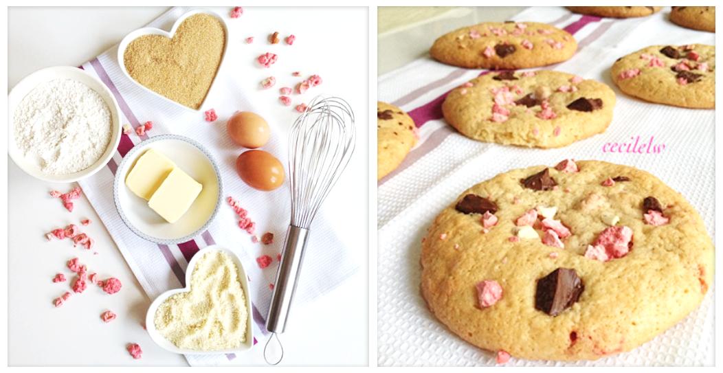 Cookies pralines pepites de choco
