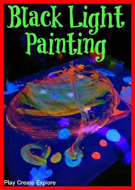 Glow in the Dark Painting with a Blacklight