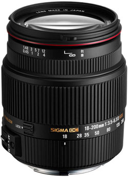 Sigma 18-200mm f3.5-6.3 II DC OS HSM Superzoom Lens