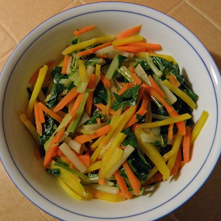 Hot Carrot Chard Salad