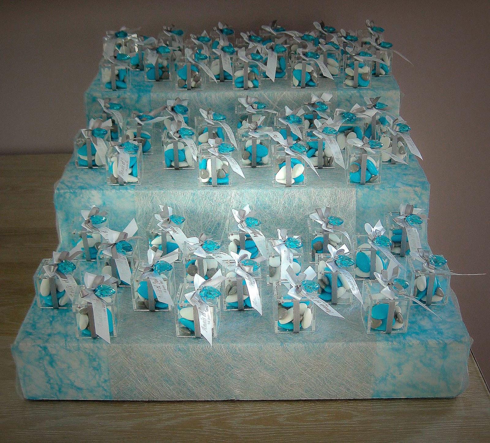 Decoration mariage blanc argent turquoise id es et d for Deco bleu turquoise et blanc