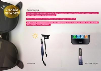 Ray Ban Shades Shama, Kacamata Berpanel Surya Dapat Isi Batere iPhone