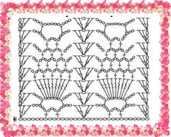 Pontos em Crochê com Gráfico
