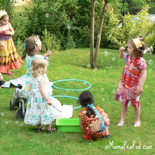 mermaid party games underwater bubbles blowing