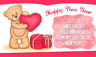 Best New Year 2014 Greetings With Teddy bear
