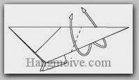 Bước 9: Gấp lộn ngược lớp giấy lên trên.